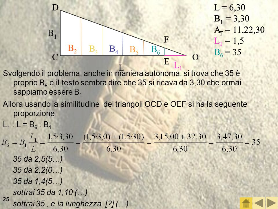 D L = 6,30. B1 = 3,30. AT = 11,22,30. L1 = 1,5. B6 = 35. L = 6,30. B1 = 3,30. AT = 11,22,30.