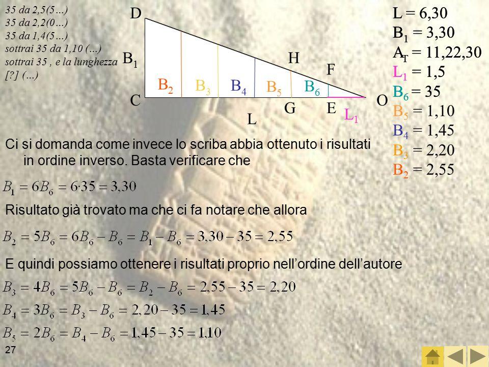 L1 L B1 B2 B3 B4 B5 B6 O C D F E H G L = 6,30 B1 = 3,30 AT = 11,22,30