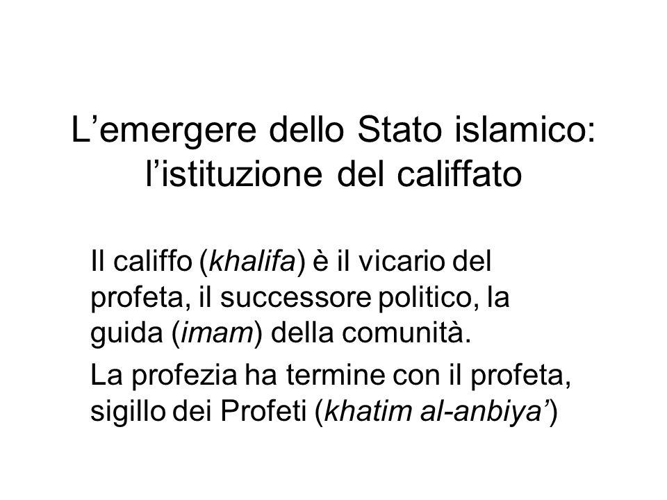 L'emergere dello Stato islamico: l'istituzione del califfato
