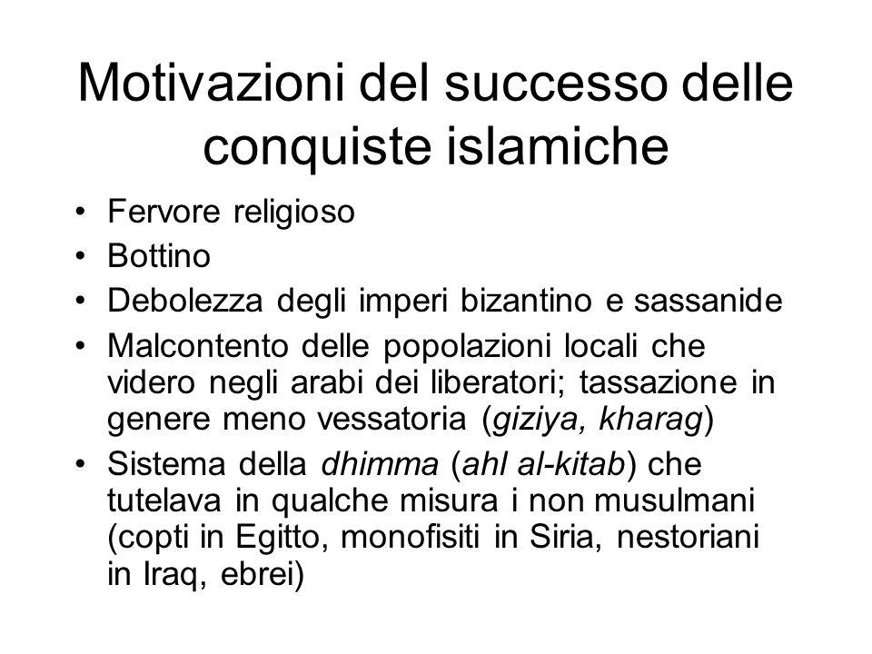 Motivazioni del successo delle conquiste islamiche