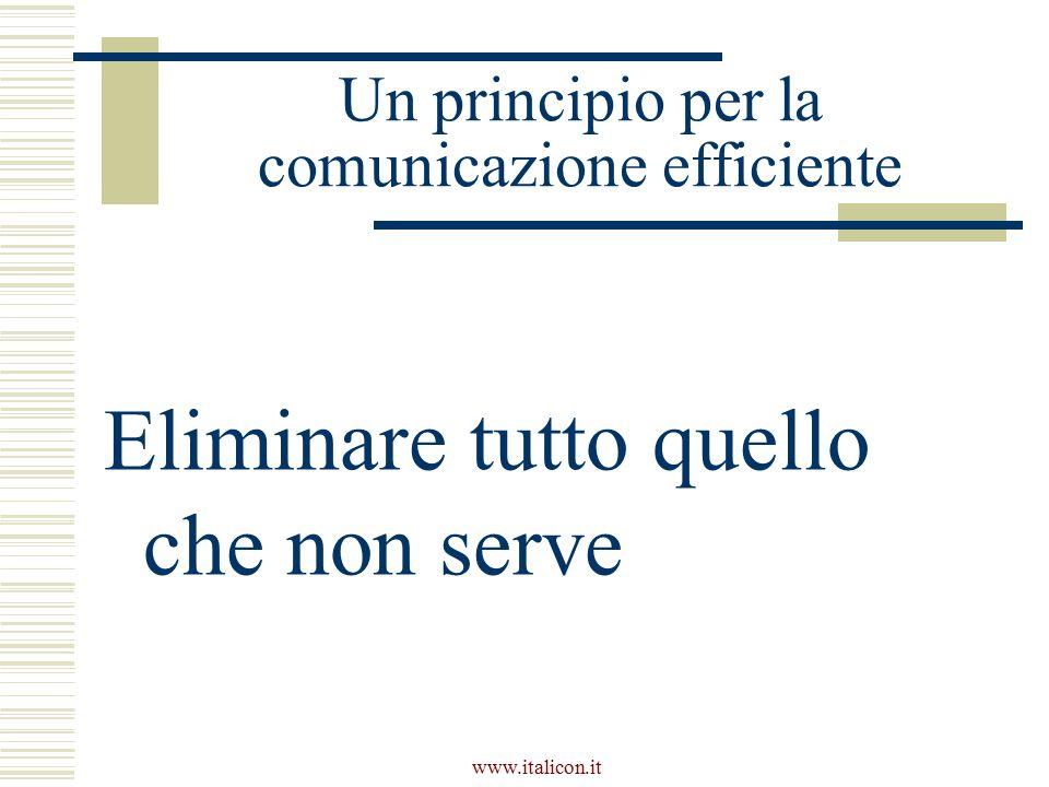 Un principio per la comunicazione efficiente