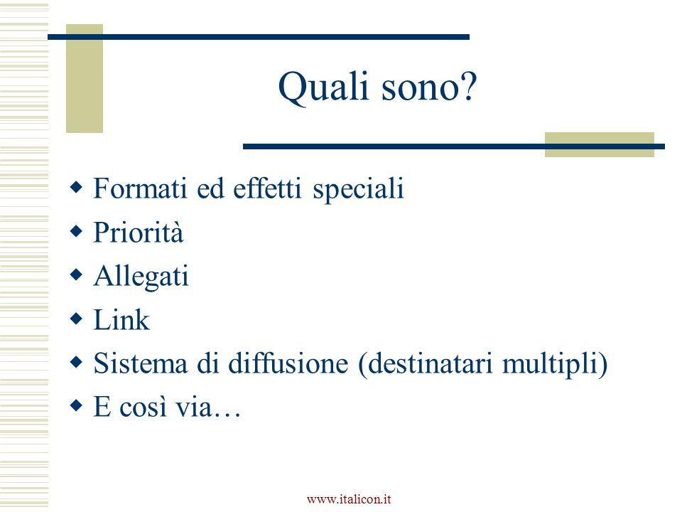 Quali sono Formati ed effetti speciali Priorità Allegati Link