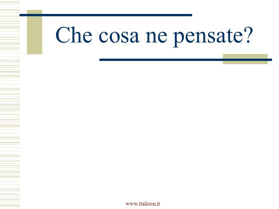Che cosa ne pensate www.italicon.it