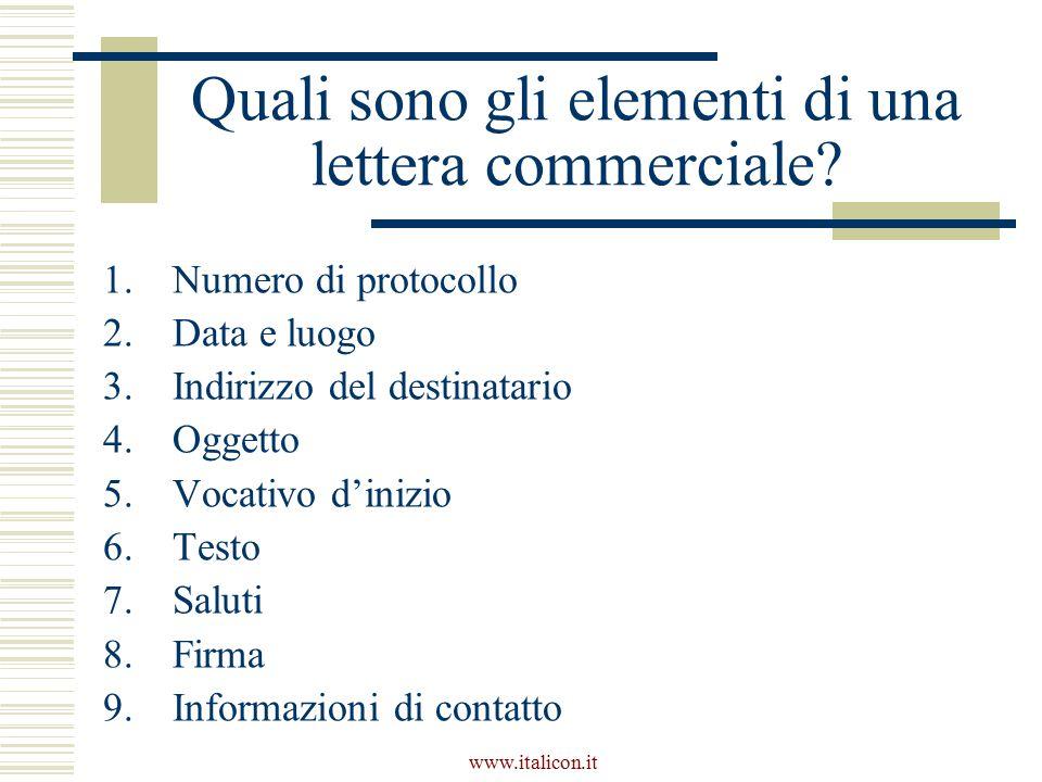 Quali sono gli elementi di una lettera commerciale