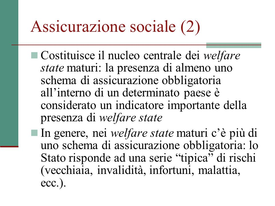 Assicurazione sociale (2)
