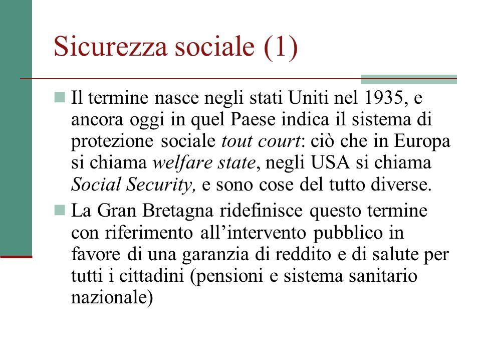 Sicurezza sociale (1)