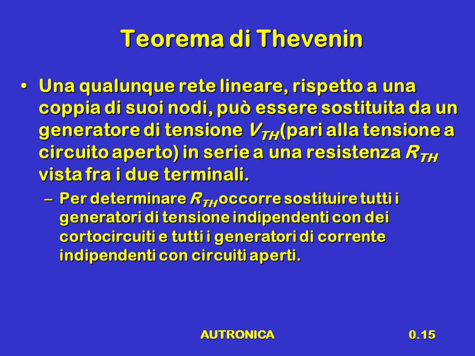 Teorema di Thevenin