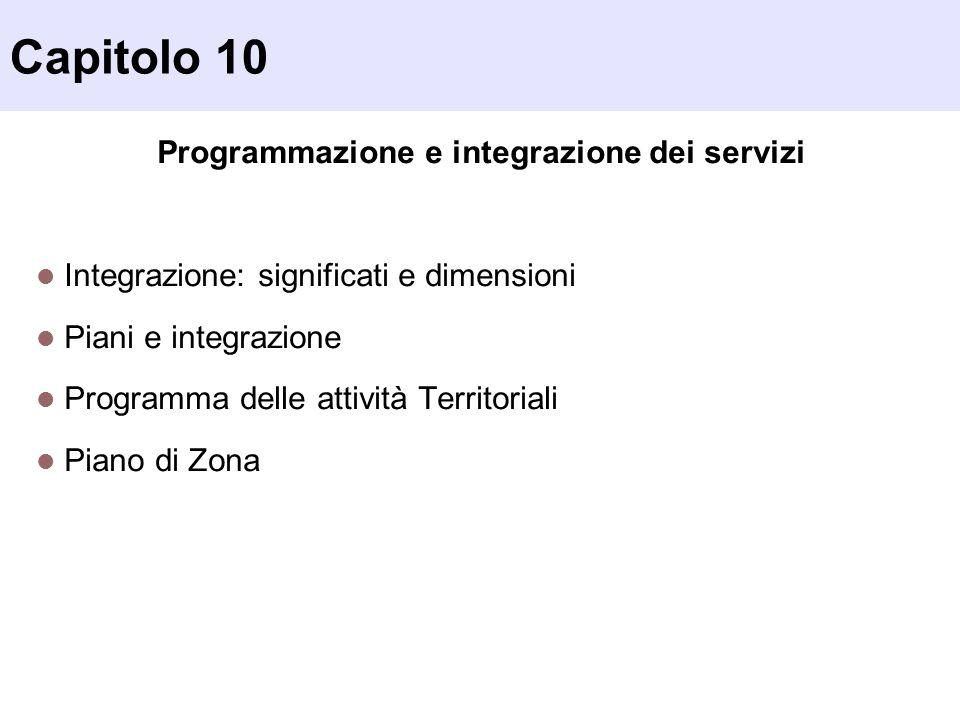 Programmazione e integrazione dei servizi