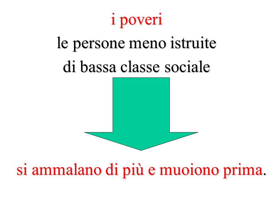 le persone meno istruite di bassa classe sociale