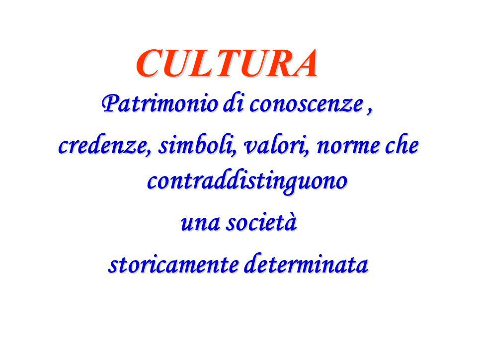 CULTURA Patrimonio di conoscenze ,