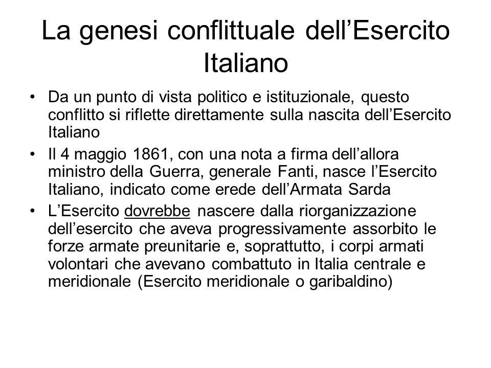 La genesi conflittuale dell'Esercito Italiano