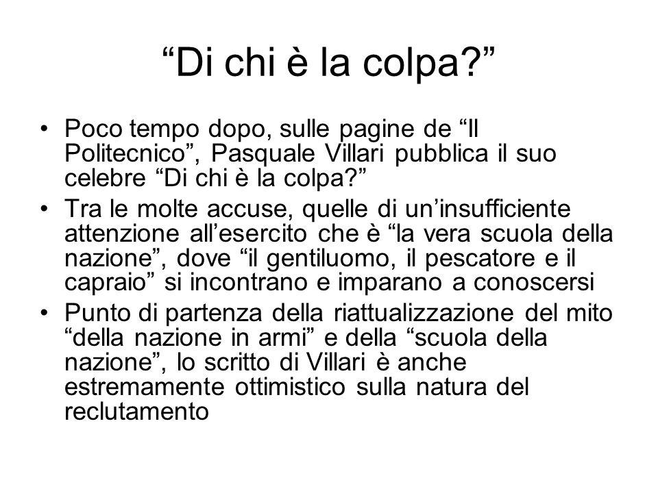 Di chi è la colpa Poco tempo dopo, sulle pagine de Il Politecnico , Pasquale Villari pubblica il suo celebre Di chi è la colpa