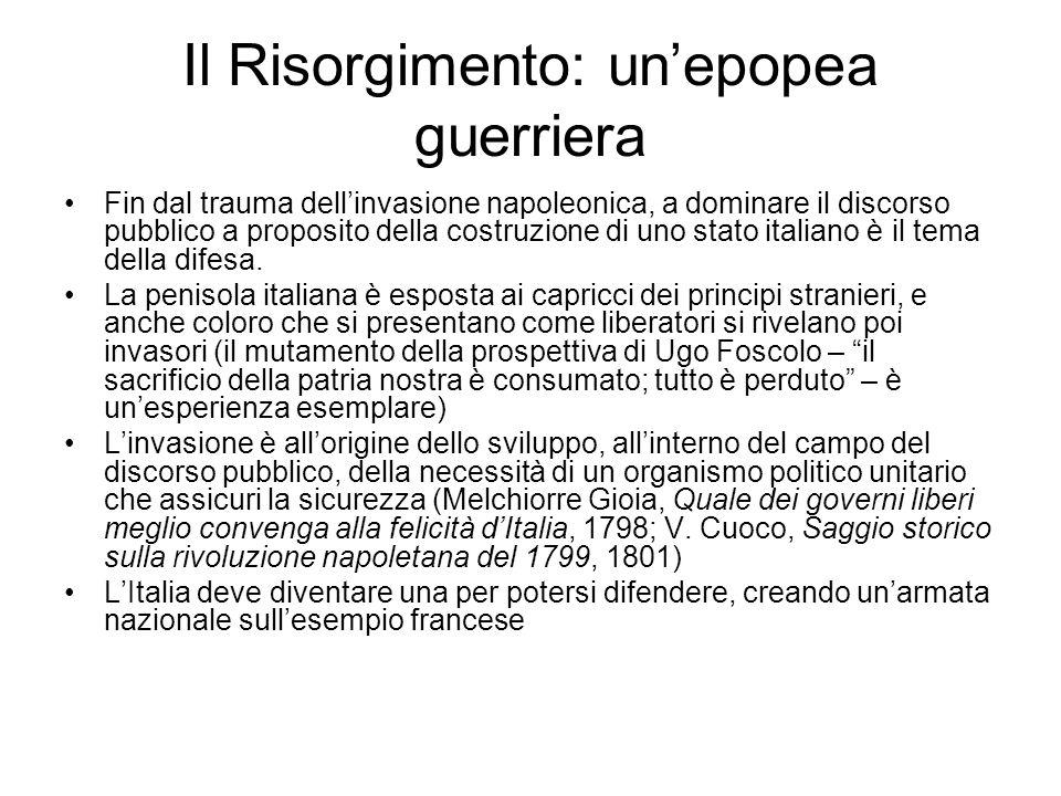 Il Risorgimento: un'epopea guerriera