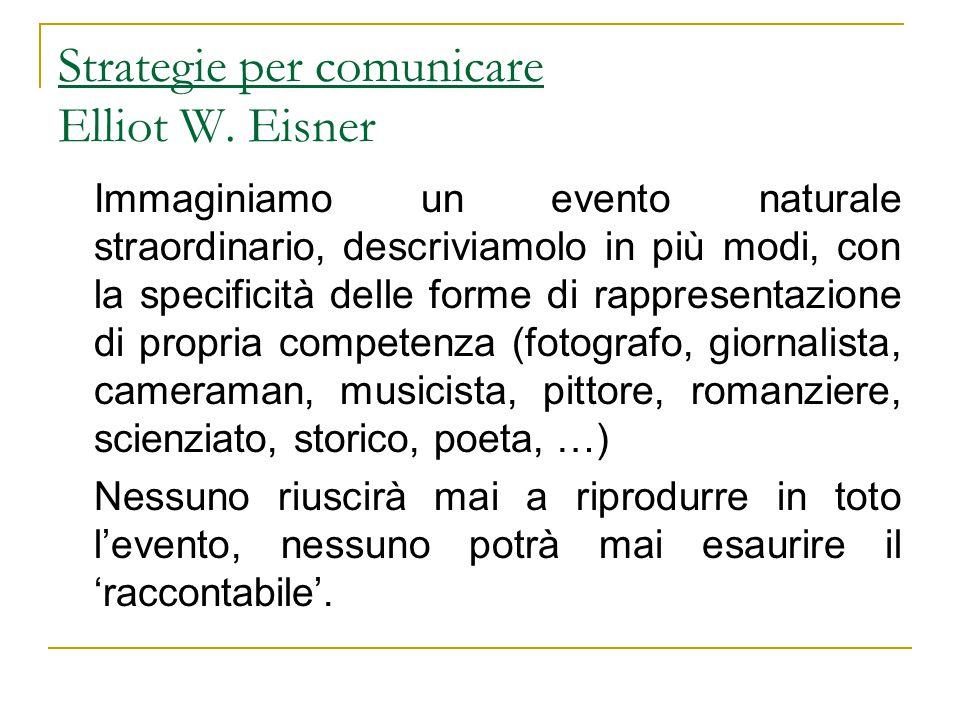 Strategie per comunicare Elliot W. Eisner
