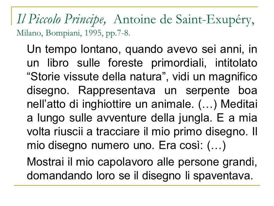 Il Piccolo Principe, Antoine de Saint-Exupéry, Milano, Bompiani, 1995, pp.7-8.