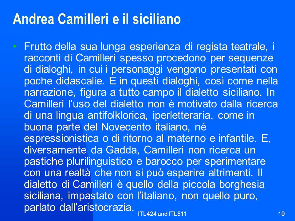 Andrea Camilleri e il siciliano