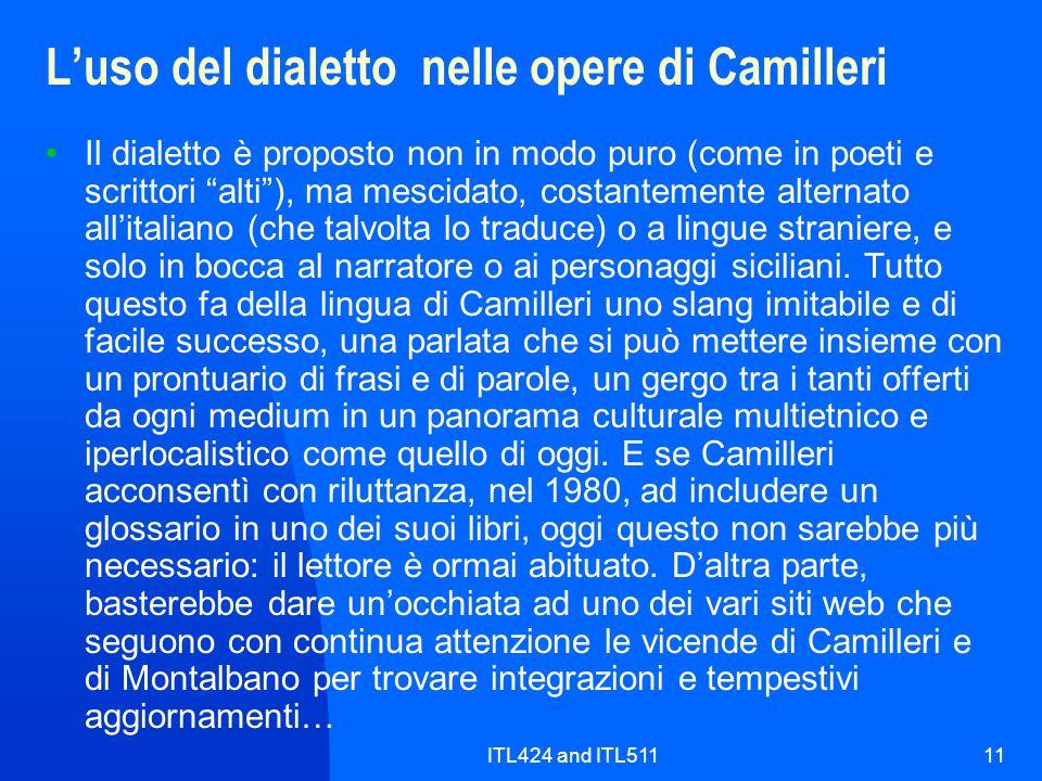 L'uso del dialetto nelle opere di Camilleri