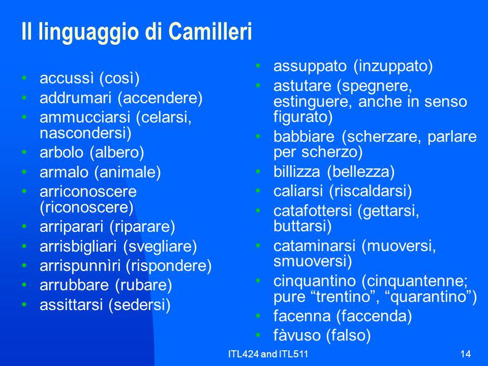 Il linguaggio di Camilleri