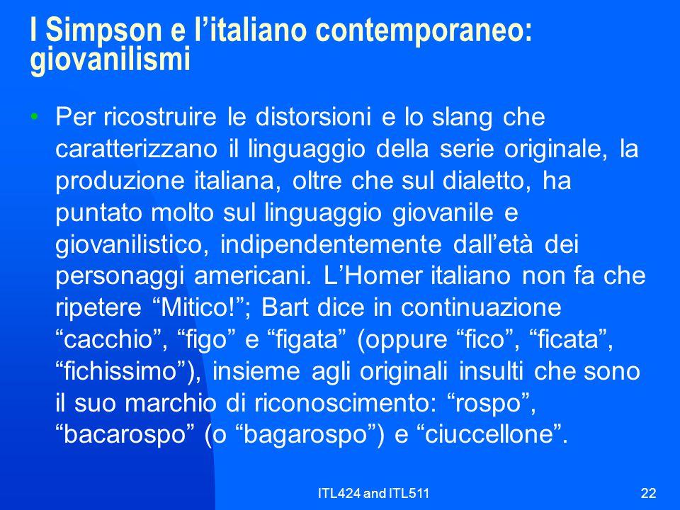 I Simpson e l'italiano contemporaneo: giovanilismi