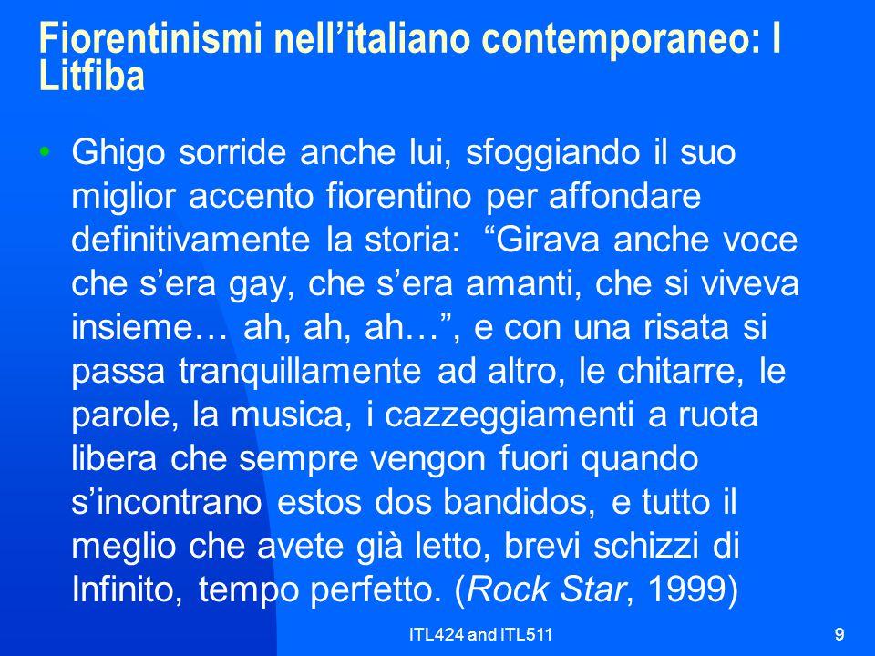 Fiorentinismi nell'italiano contemporaneo: I Litfiba