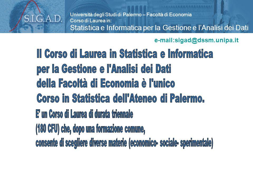 Statistica e Informatica per la Gestione e l'Analisi dei Dati