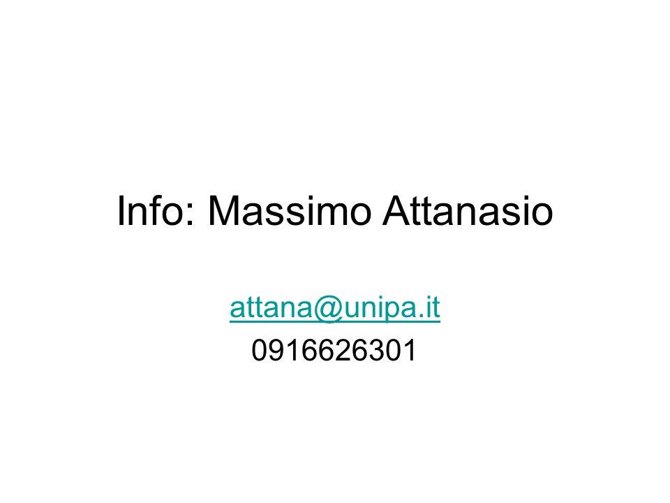 Info: Massimo Attanasio