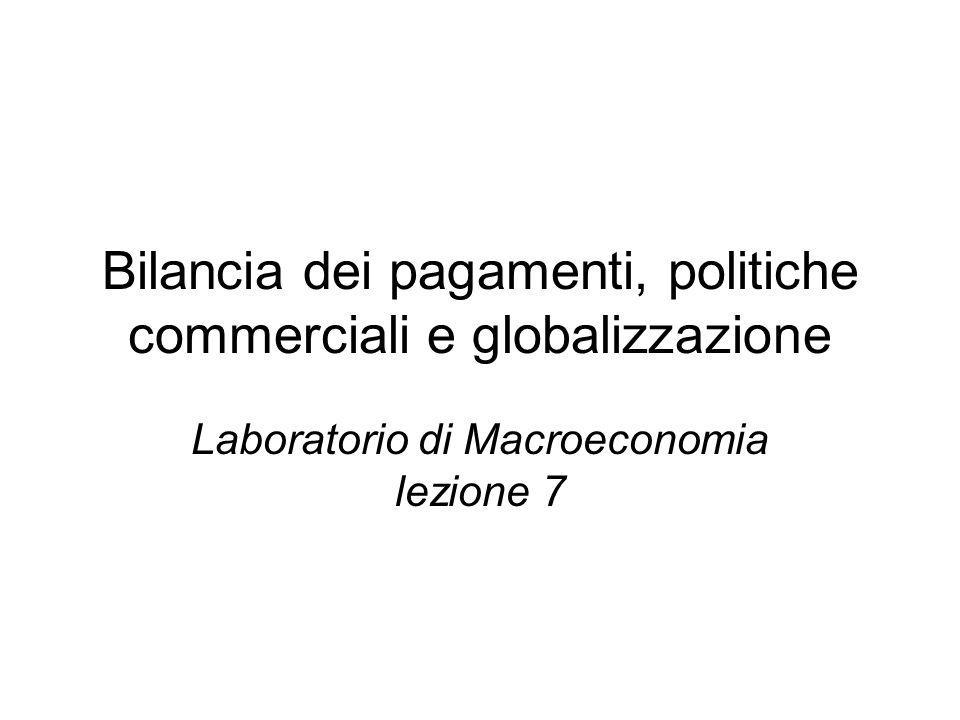 Bilancia dei pagamenti, politiche commerciali e globalizzazione