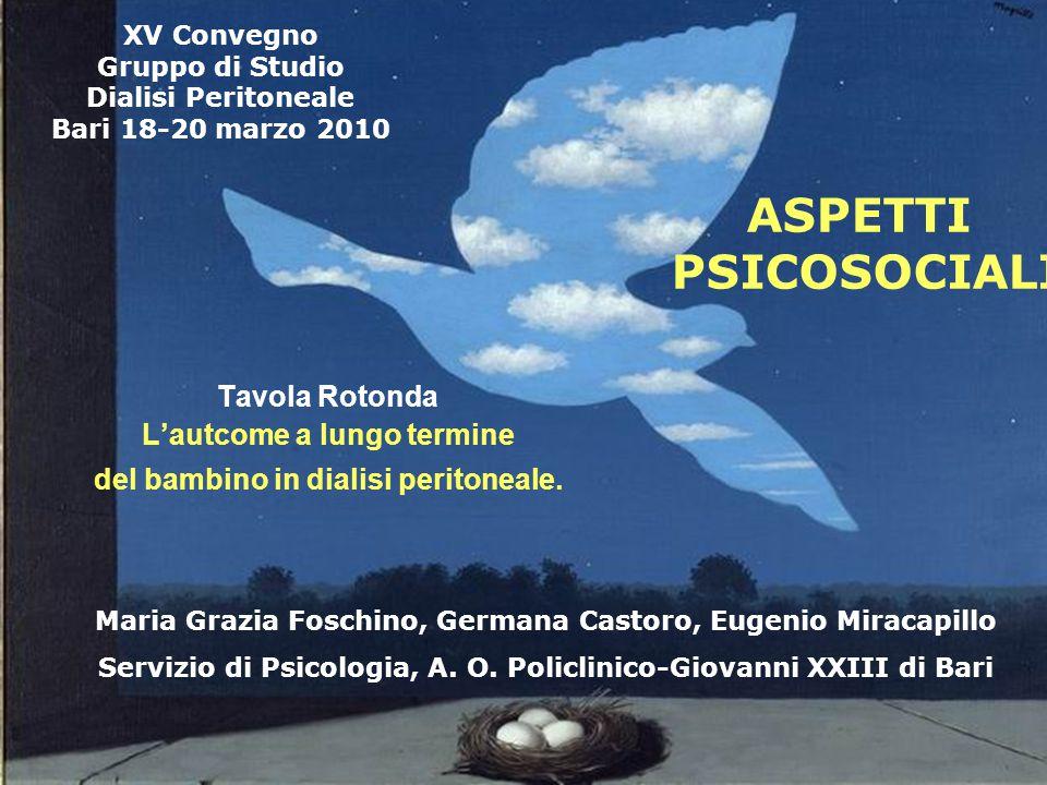 XV Convegno Gruppo di Studio Dialisi Peritoneale Bari 18-20 marzo 2010