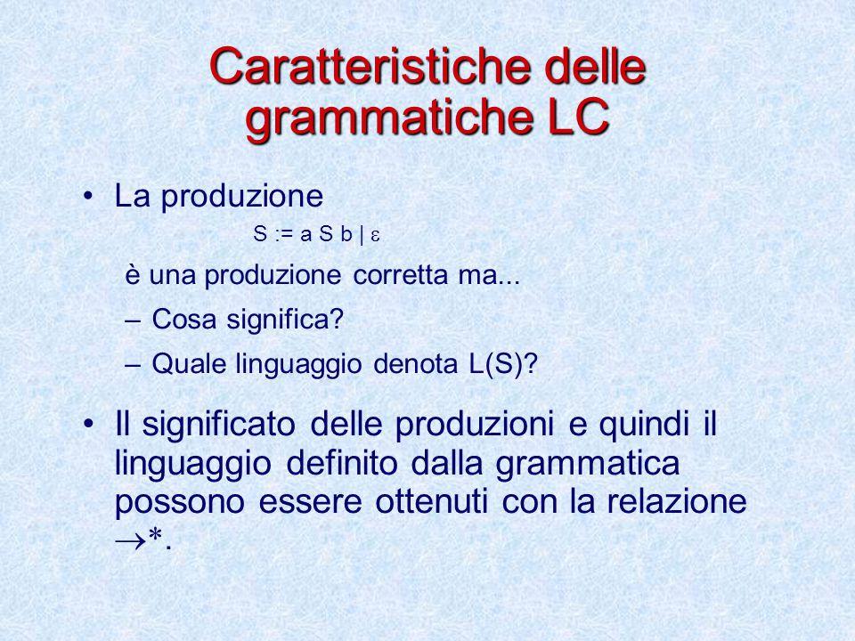 Caratteristiche delle grammatiche LC