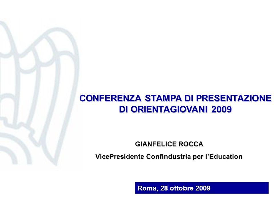 CONFERENZA STAMPA DI PRESENTAZIONE DI ORIENTAGIOVANI 2009