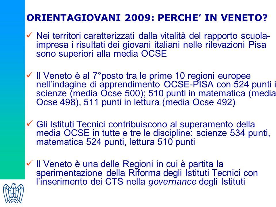 ORIENTAGIOVANI 2009: PERCHE' IN VENETO