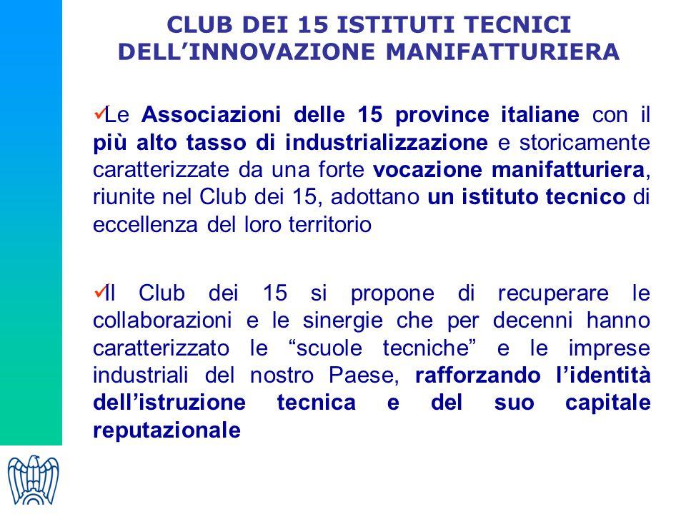 CLUB DEI 15 ISTITUTI TECNICI DELL'INNOVAZIONE MANIFATTURIERA