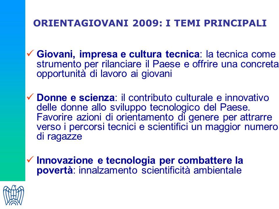 ORIENTAGIOVANI 2009: I TEMI PRINCIPALI