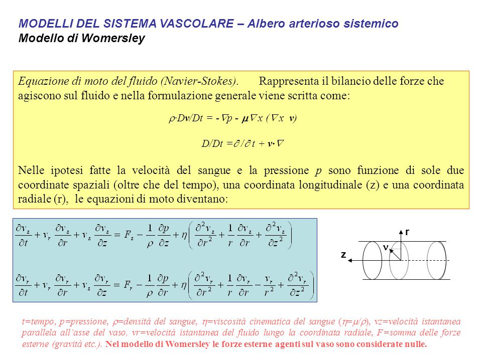 r·Dv/Dt = -p - m x ( x v)