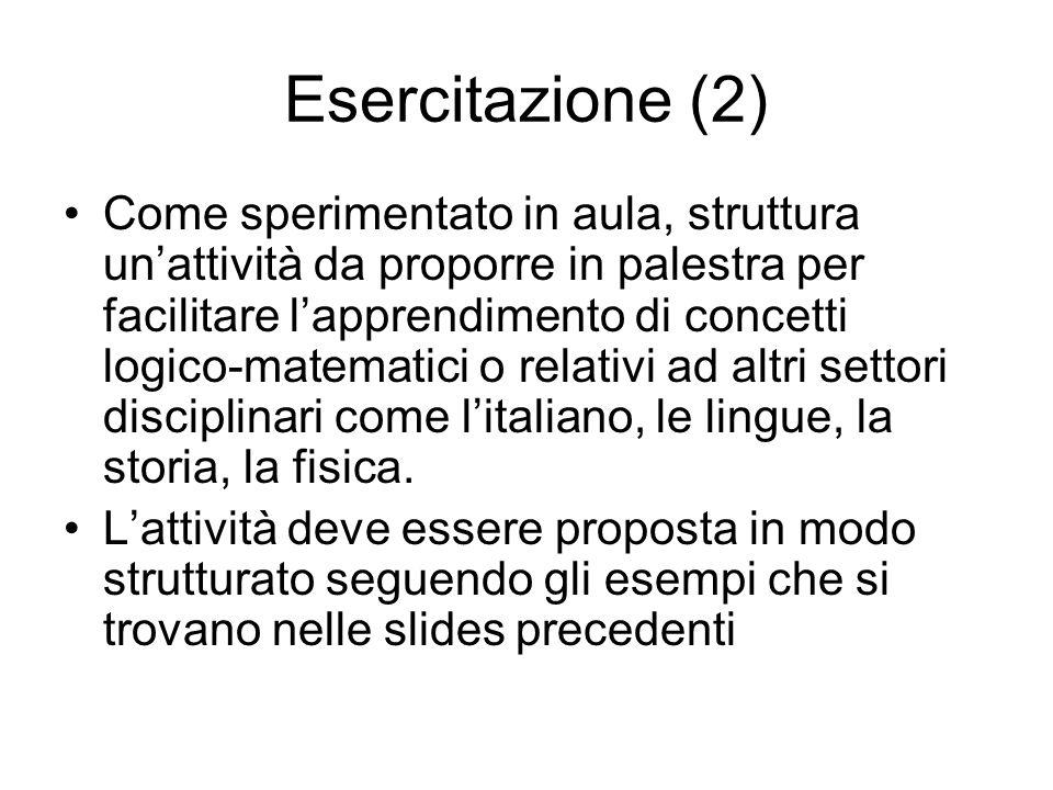 Esercitazione (2)