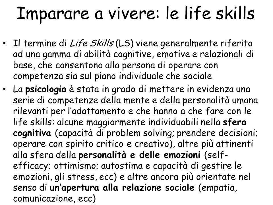 Imparare a vivere: le life skills