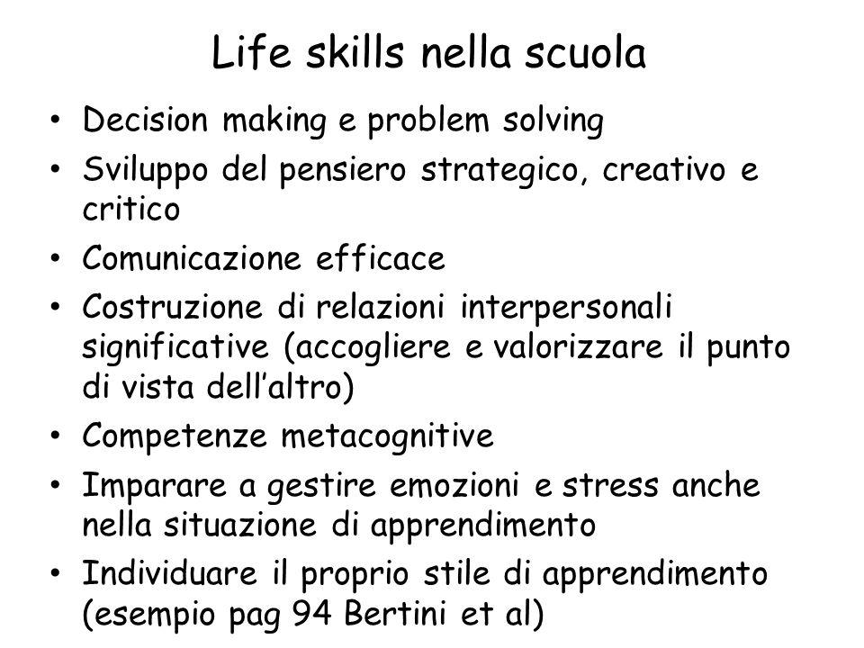 Life skills nella scuola