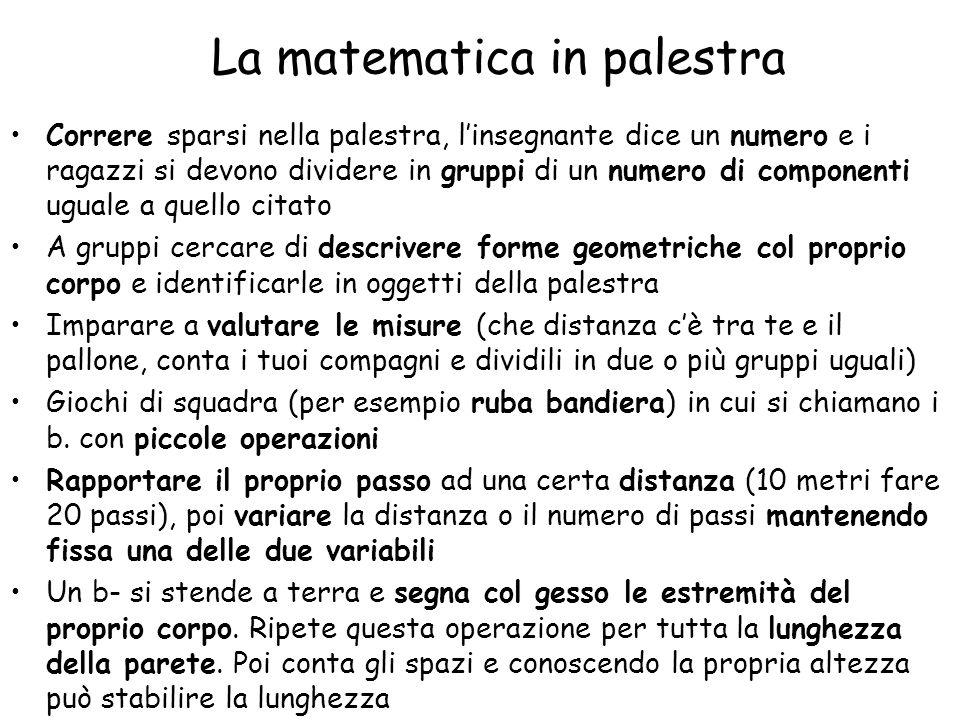 La matematica in palestra