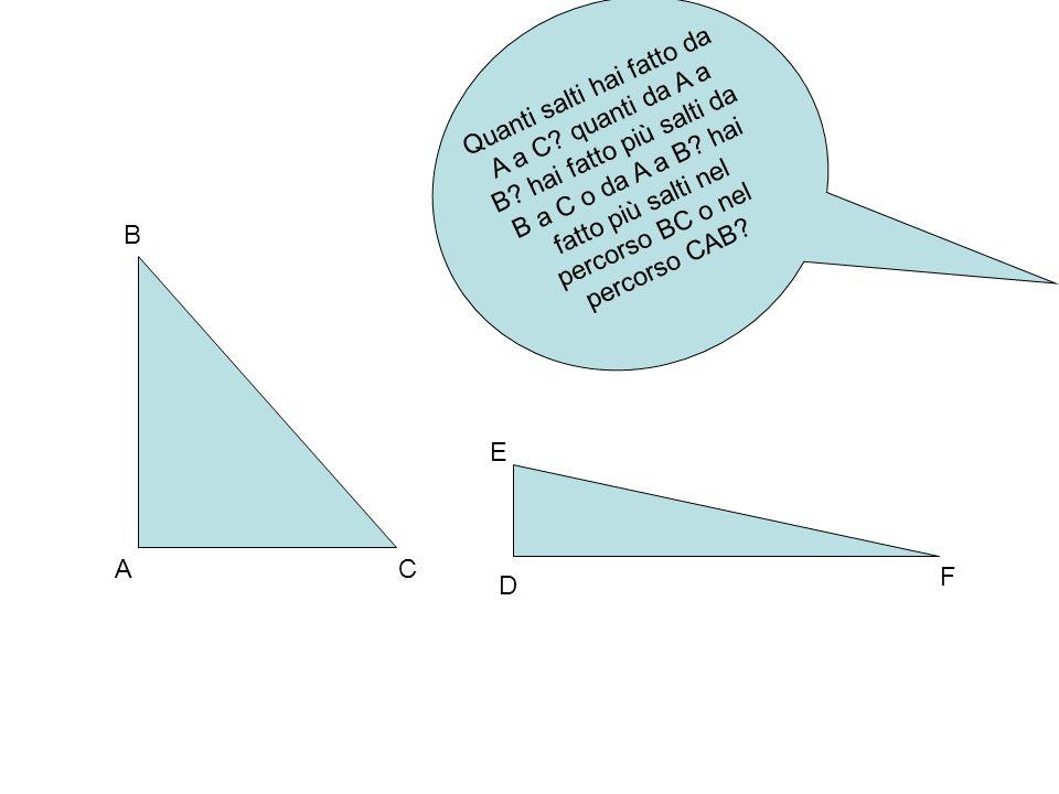 Quanti salti hai fatto da A a C. quanti da A a B