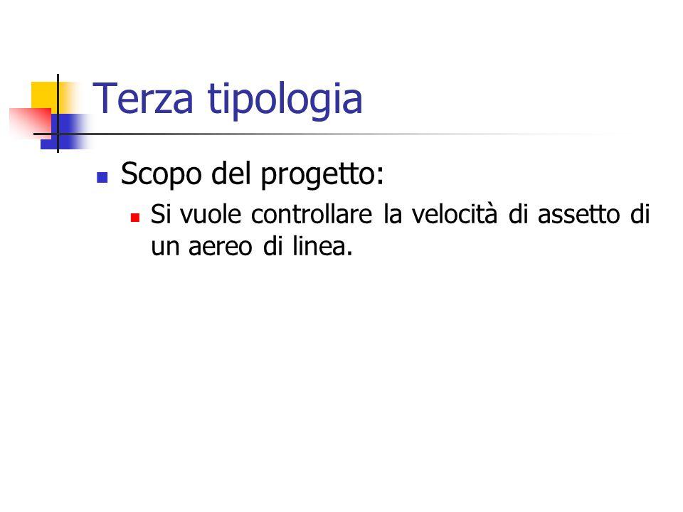 Terza tipologia Scopo del progetto: