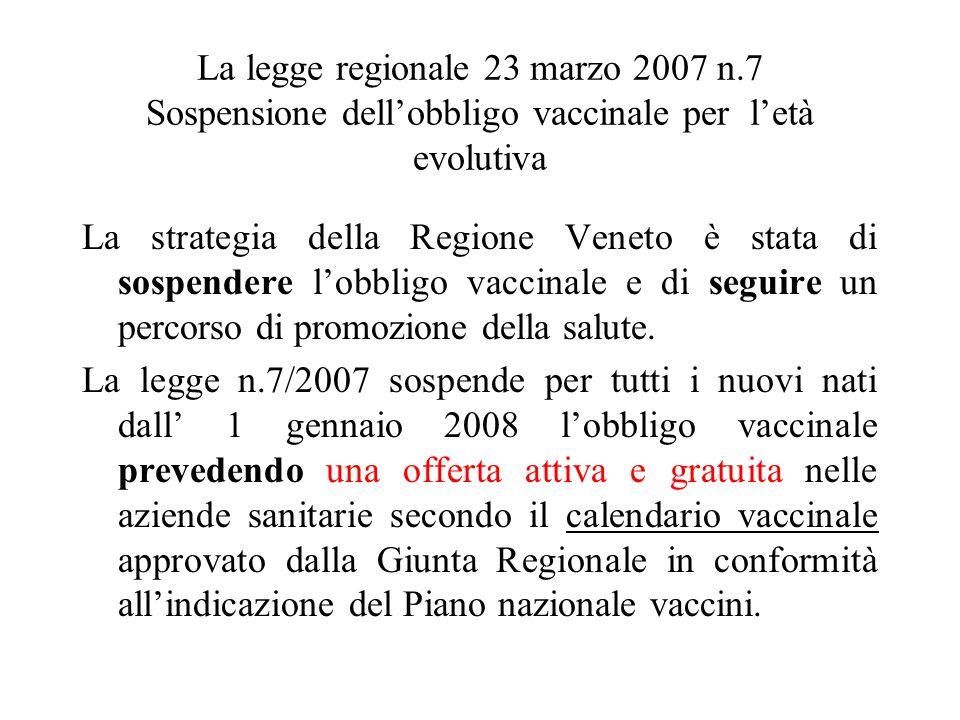La legge regionale 23 marzo 2007 n