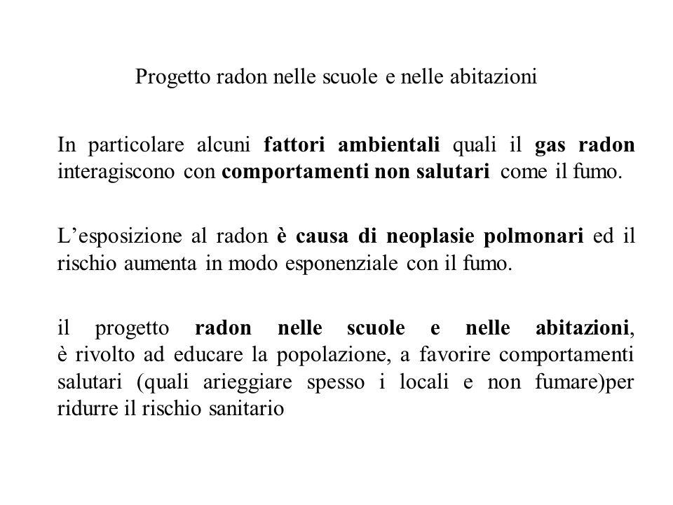 Progetto radon nelle scuole e nelle abitazioni