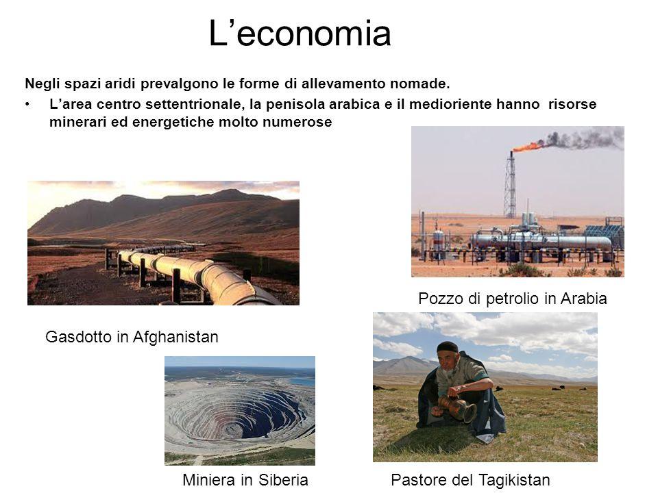 L'economia Pozzo di petrolio in Arabia Gasdotto in Afghanistan