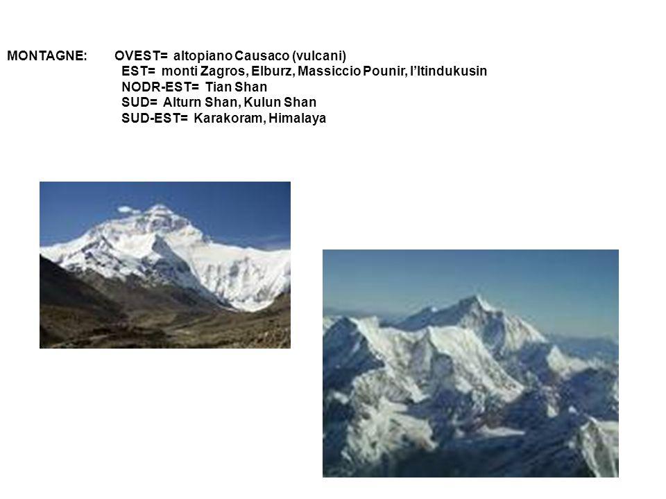 MONTAGNE: OVEST= altopiano Causaco (vulcani)