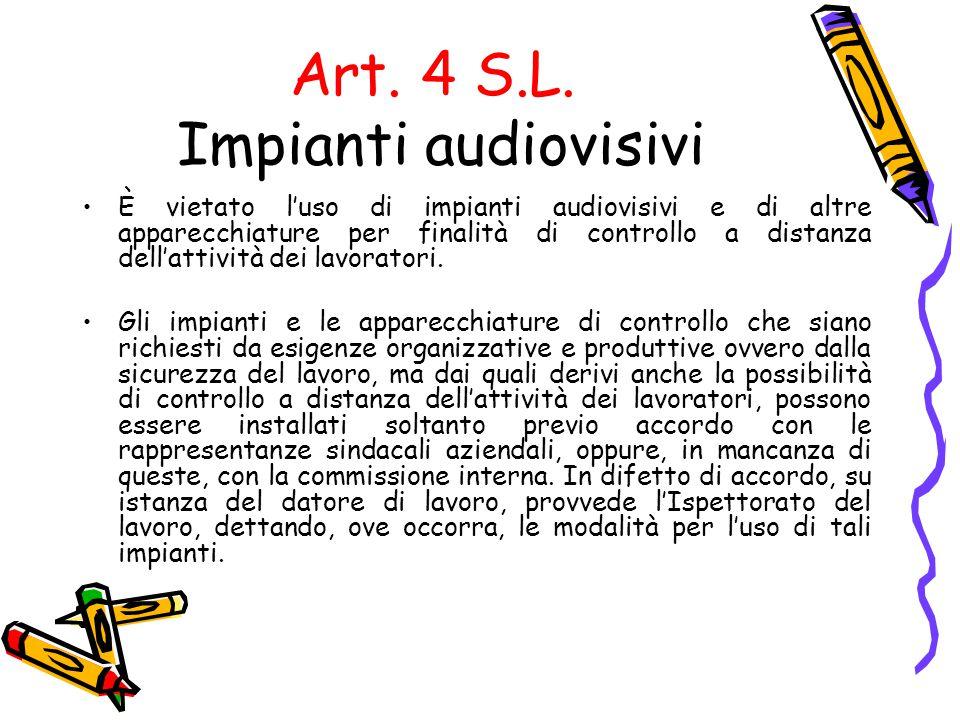 Art. 4 S.L. Impianti audiovisivi