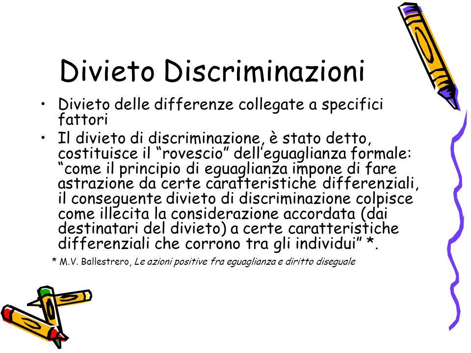 Divieto Discriminazioni