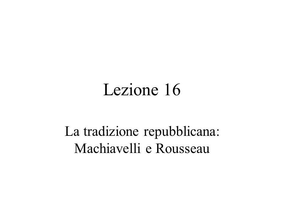 La tradizione repubblicana: Machiavelli e Rousseau
