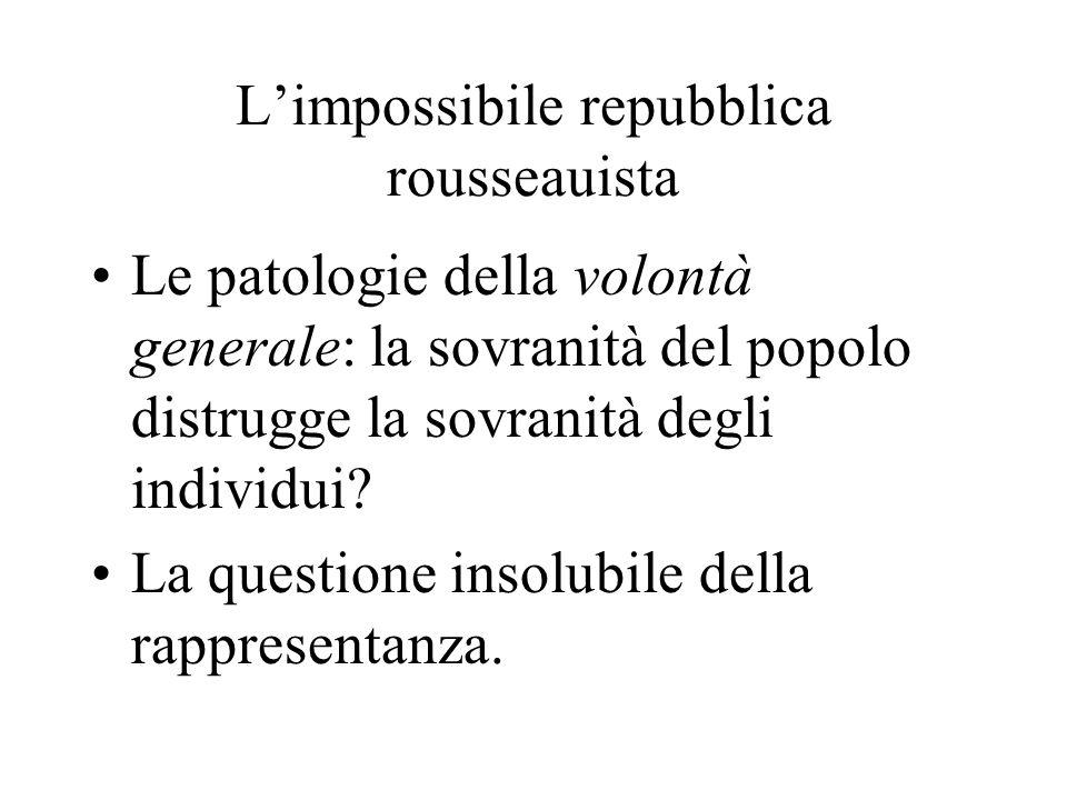 L'impossibile repubblica rousseauista