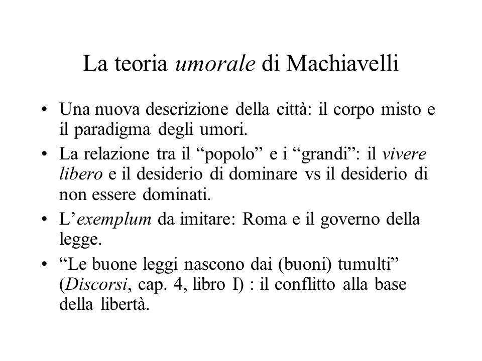 La teoria umorale di Machiavelli