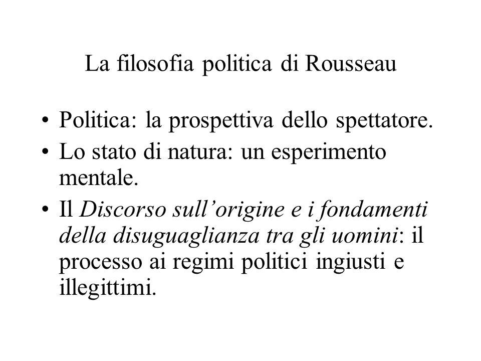 La filosofia politica di Rousseau